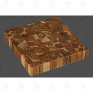 Teak Chopping Block 30 x 30 x 5 cm, Teak Wood