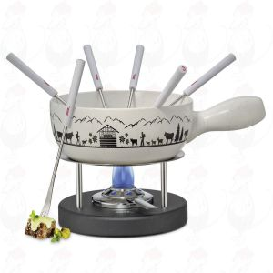 Cheese Fondue Set Montana - White - Black