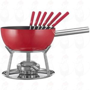 Cheese Fondue Set Spring Alu induction Red