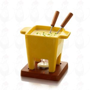 Boska Tapas Chocolate Fondue set - Cheese fondue set yellow