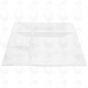 Swissmar Witte Fondueborden | Set van 4 borden | 26 cm x 26 cm