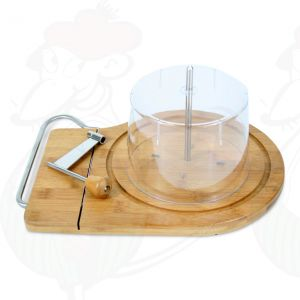 Cheese curler with cheese cutter including dome