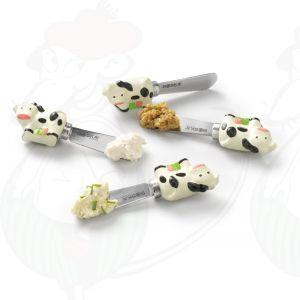 Dutch Spread Cheese Knife Set - Cow