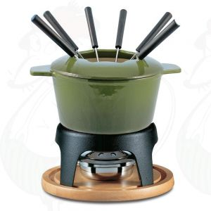 Fondue Set Sierra 11 PC Cast Iron Green
