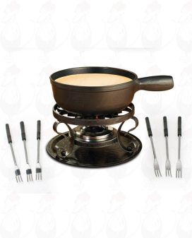 Swissmar Lugano Black - Cheese fondue set