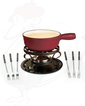 Swissmar Lugano Red - Cheese fondue set