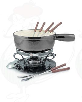 Swissmar Lugano 9 PC Black Metalic Cheese fondue set